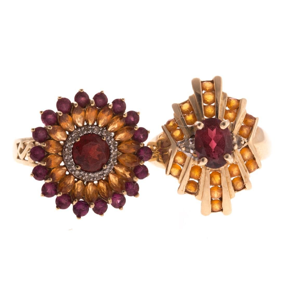 Two Lady's Gemstone Rings in 14K and 10K