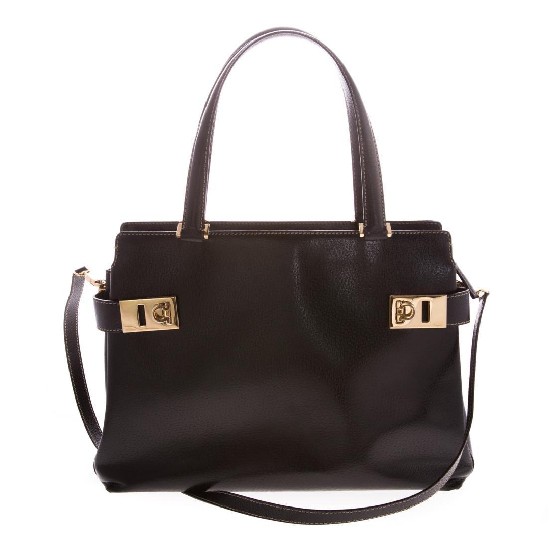 A Salvatore Ferragamo Gancini Handbag - 2