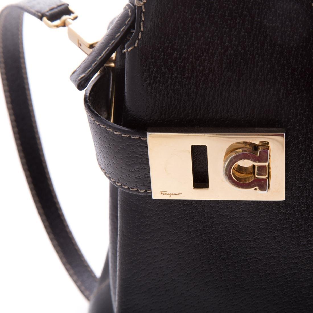 A Salvatore Ferragamo Gancini Handbag - 4