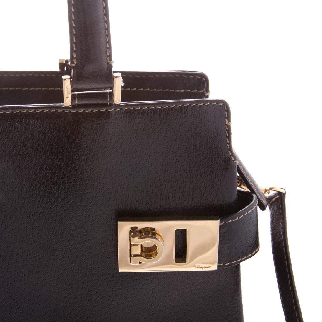 A Salvatore Ferragamo Gancini Handbag - 6