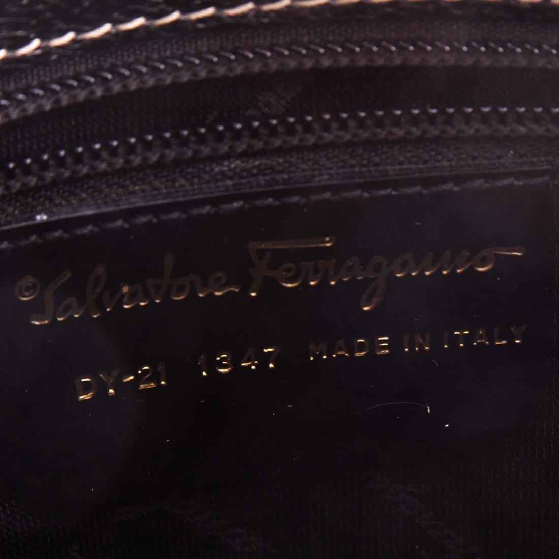 A Salvatore Ferragamo Gancini Handbag - 7
