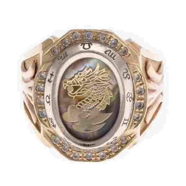 A Gentlemen's Dragon Ring in 14K Gold