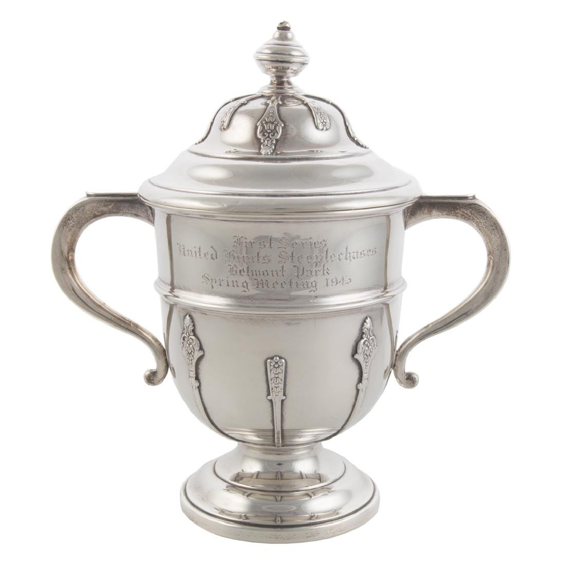 English sterling Belmont Park trophy cup
