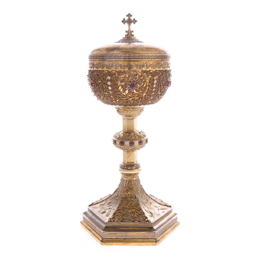 Bejeweled gilt sterling ciborium Punte Galleries