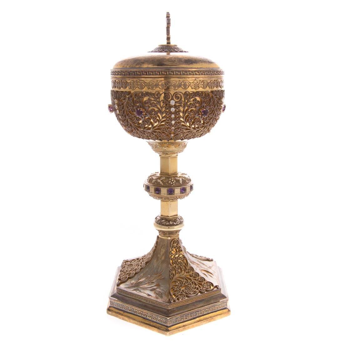 Bejeweled gilt sterling ciborium Punte Galleries - 2