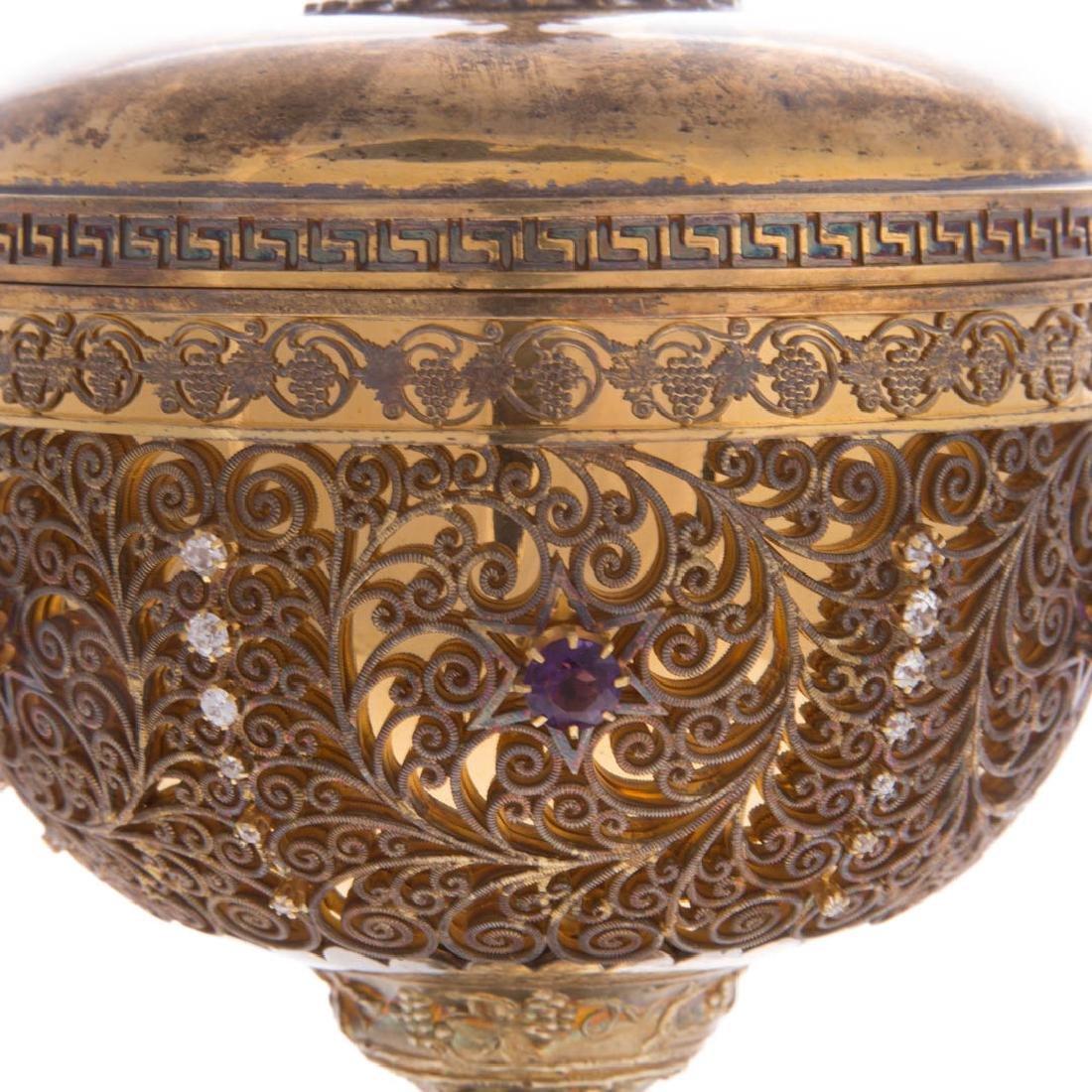 Bejeweled gilt sterling ciborium Punte Galleries - 3