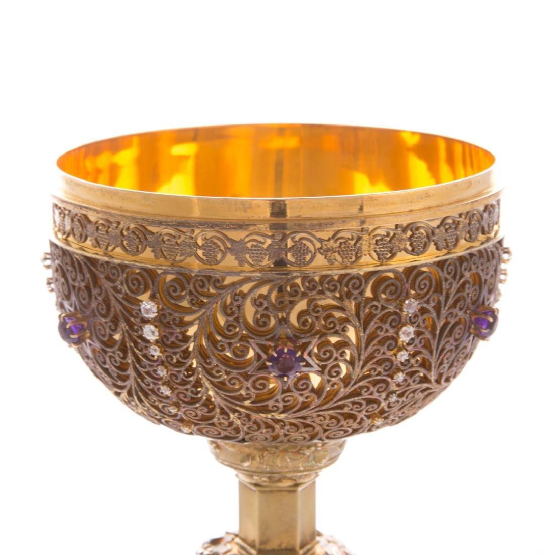 Bejeweled gilt sterling ciborium Punte Galleries - 5