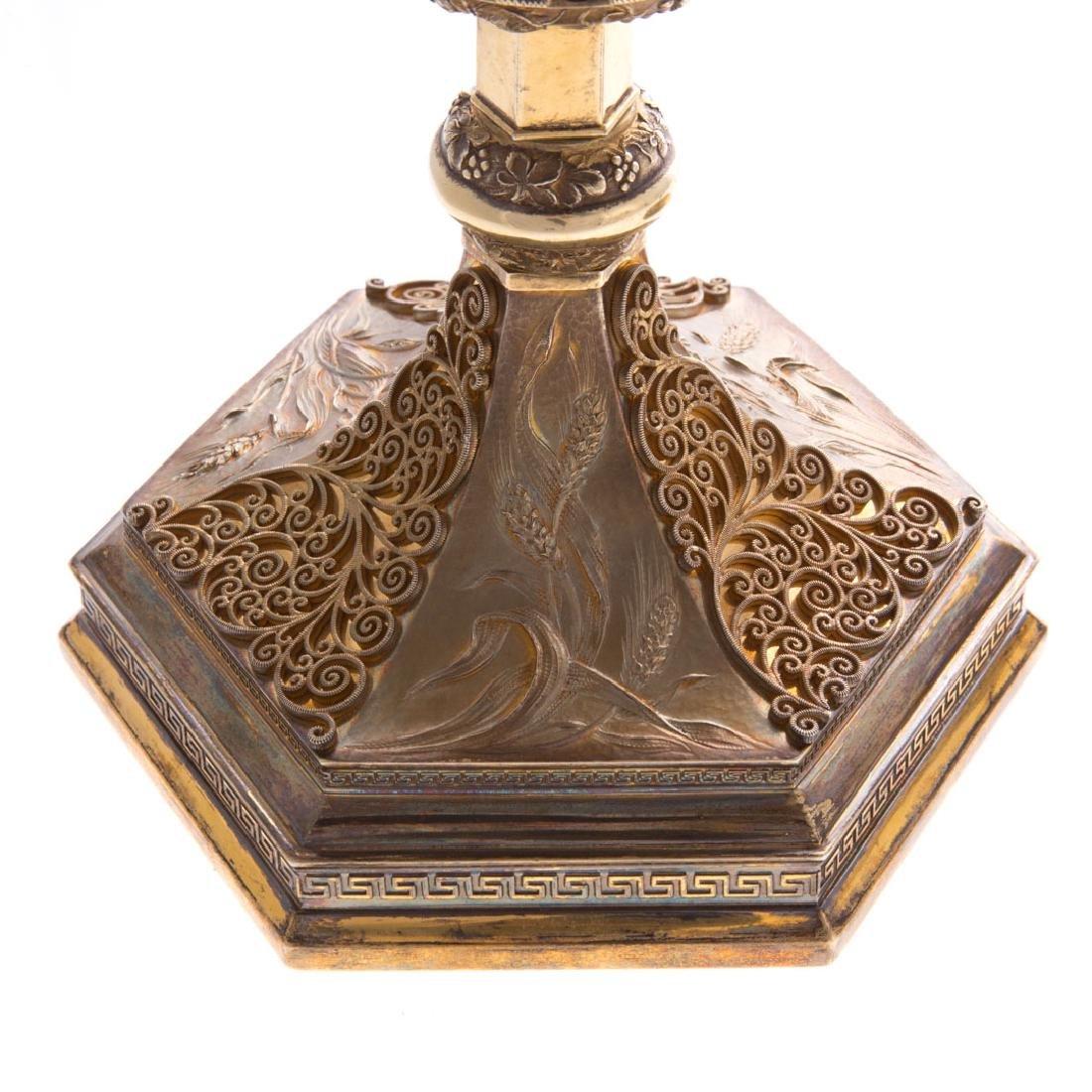 Bejeweled gilt sterling ciborium Punte Galleries - 7