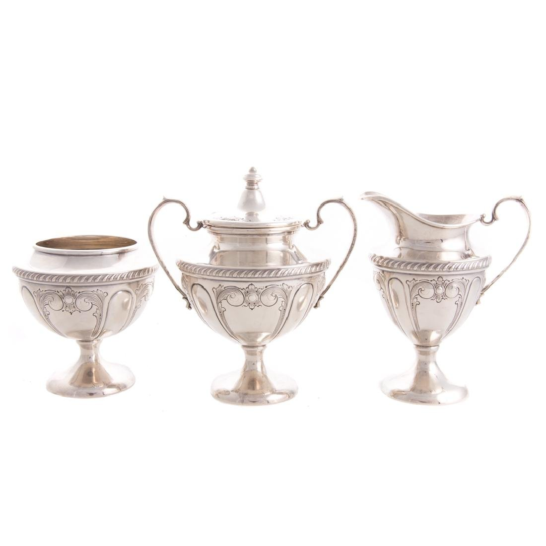 Classical style sterling 5-pc coffee & tea service - 6