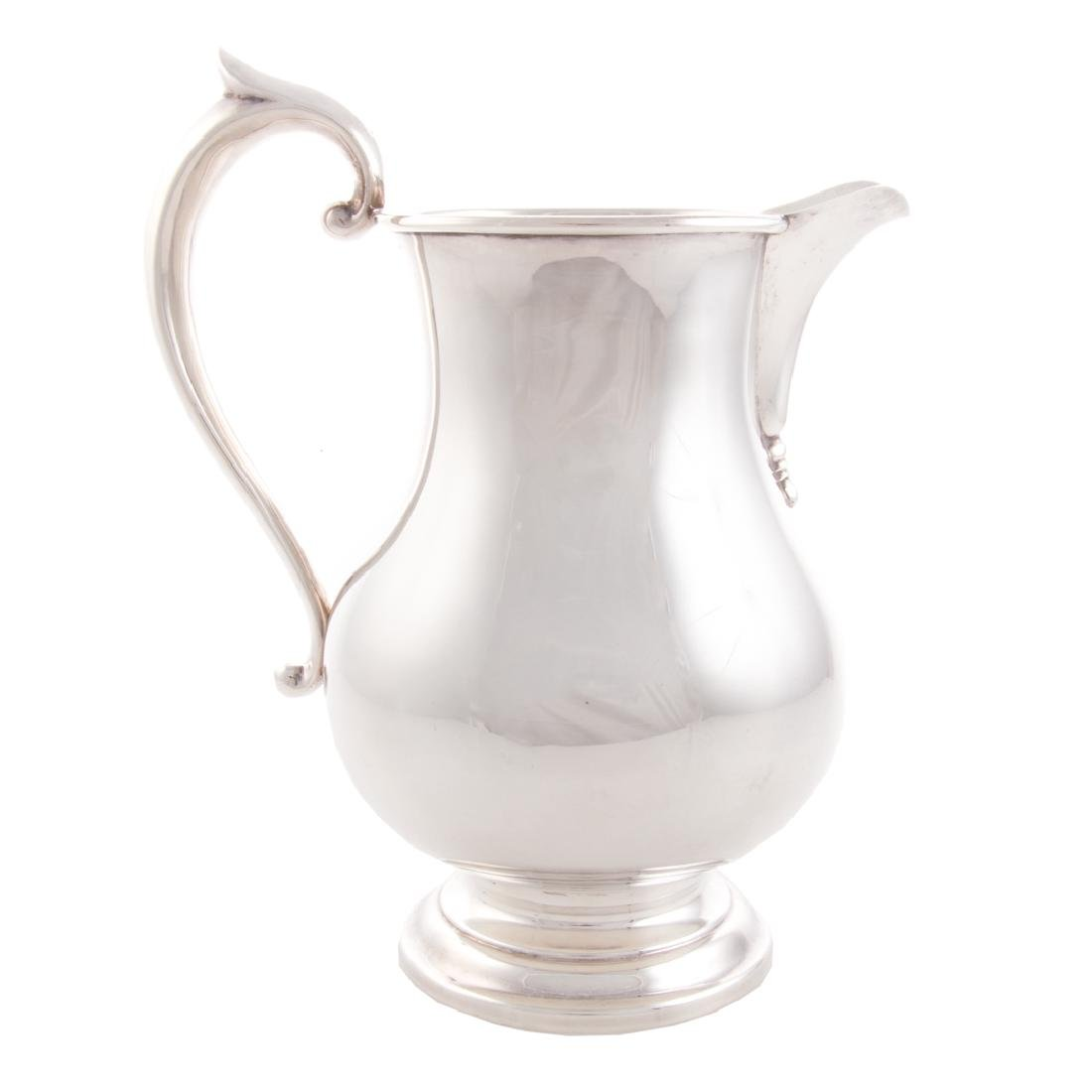 American sterling baluster-form pitcher