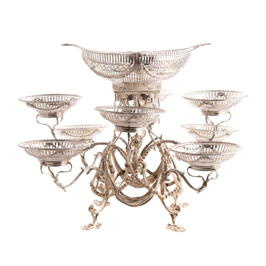 Prized Georgian sterling eight-armed epergne