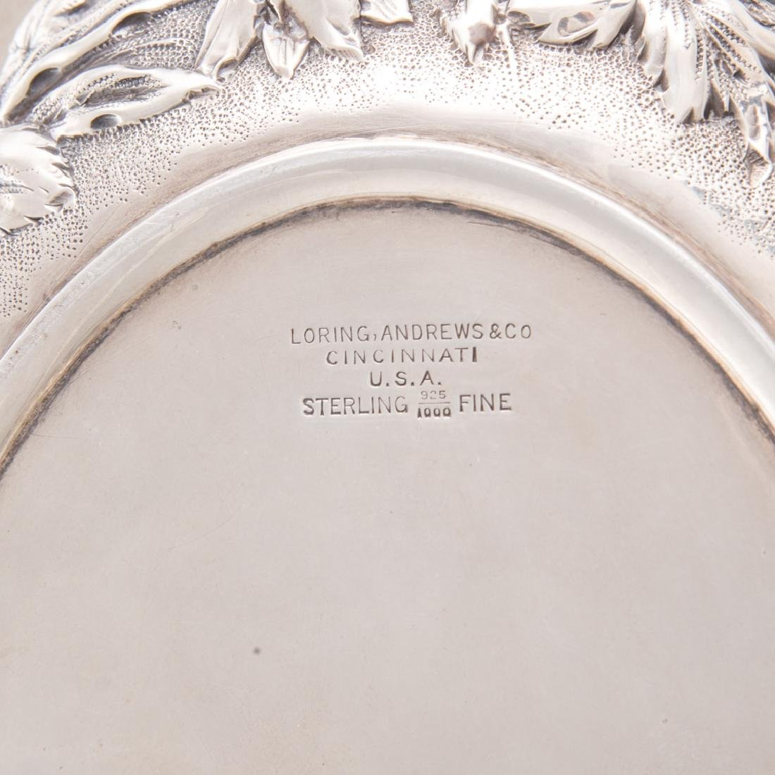 Fine repousse sterling covered vegetable dish - 7