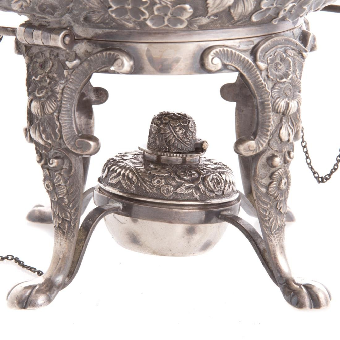 Quality repousse sterling 6-pc coffee/tea service - 3
