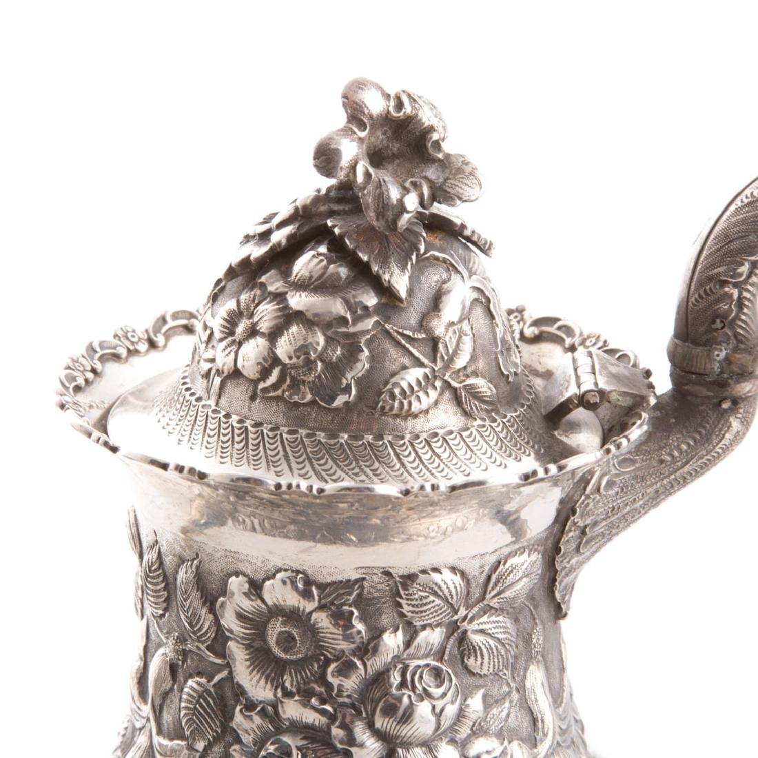 Quality repousse sterling 6-pc coffee/tea service - 6