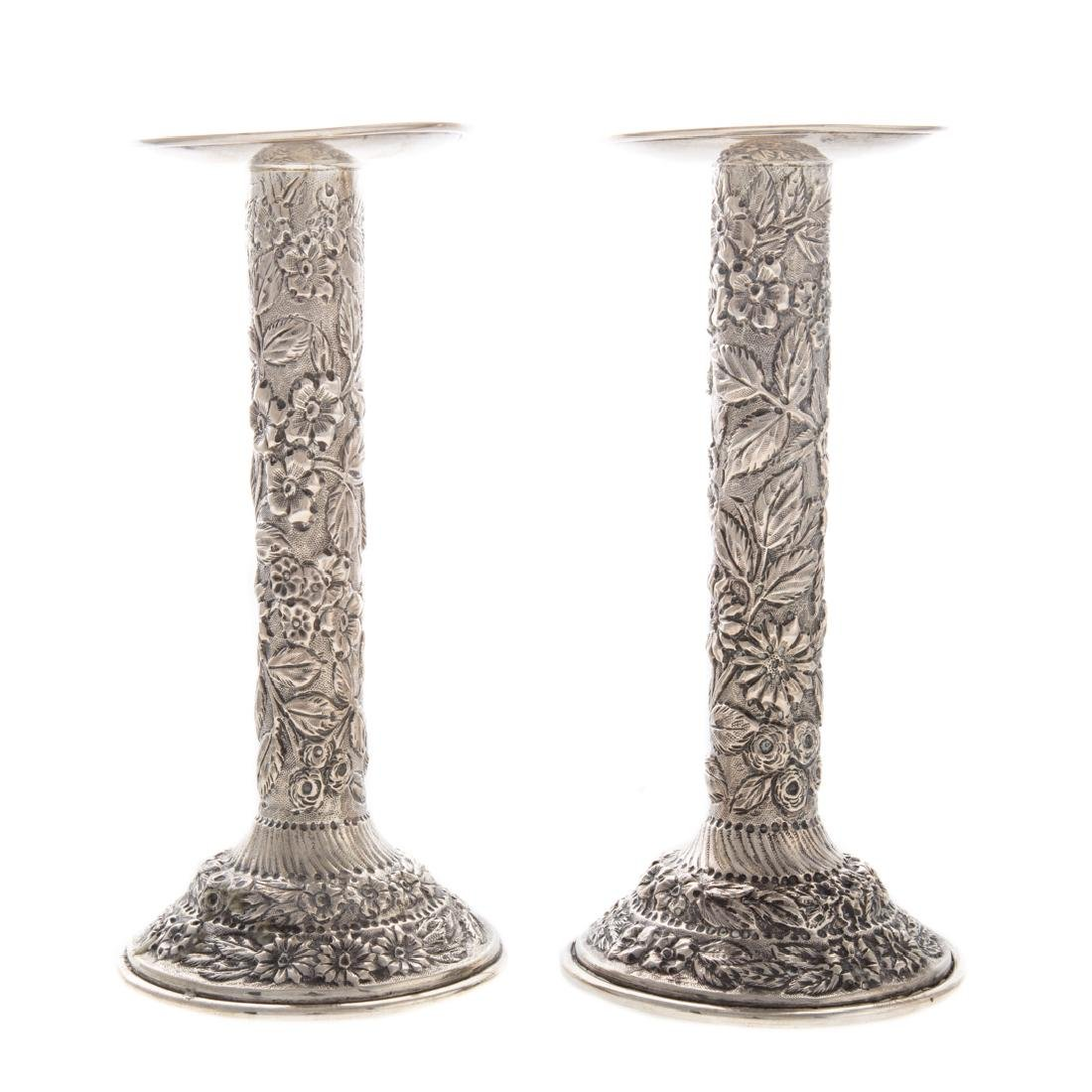 Pair Baltimore Silversmiths sterling candlesticks