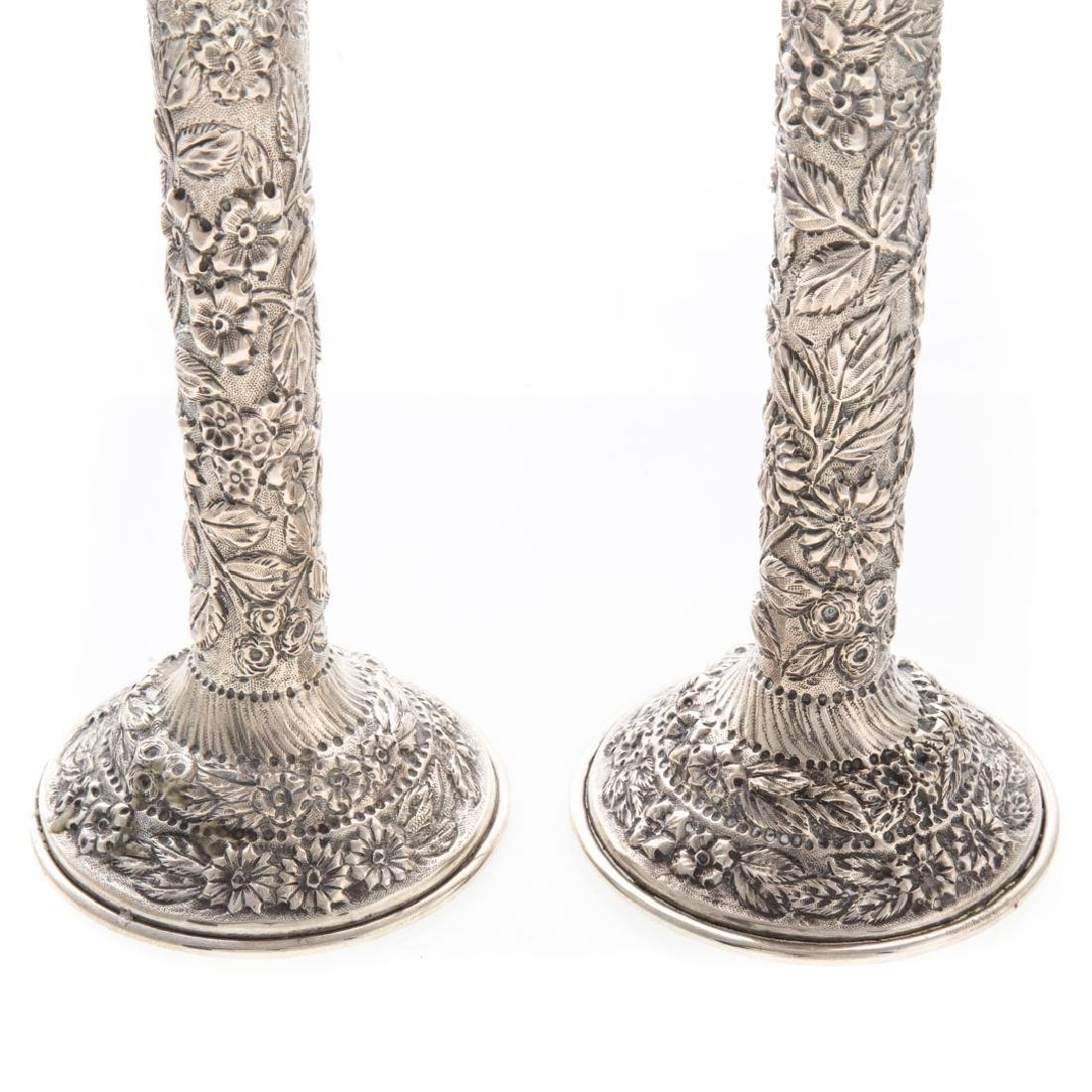 Pair Baltimore Silversmiths sterling candlesticks - 2