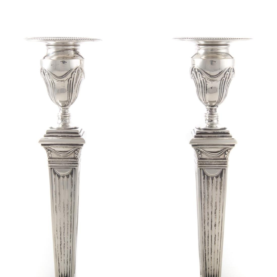 Pair of Tiffany & Co. sterling silver candlesticks - 2