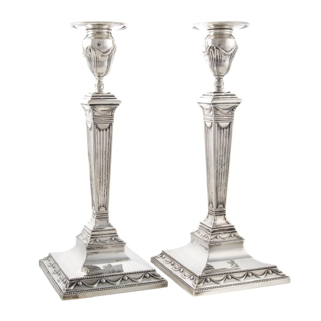 Pair of Tiffany & Co. sterling silver candlesticks - 4