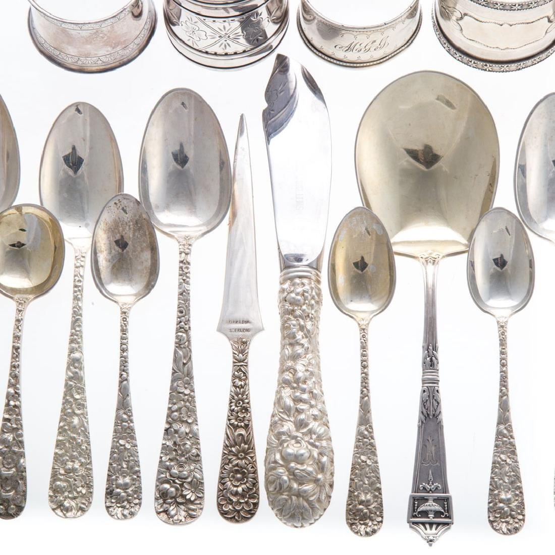 Assorted silver flatware and napkin rings - 2
