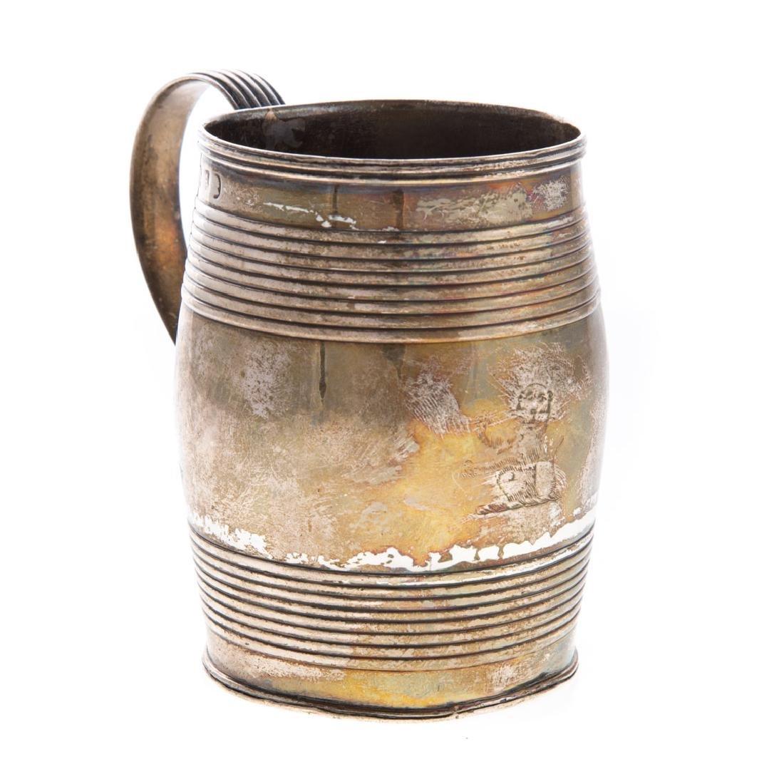 George III silver cann