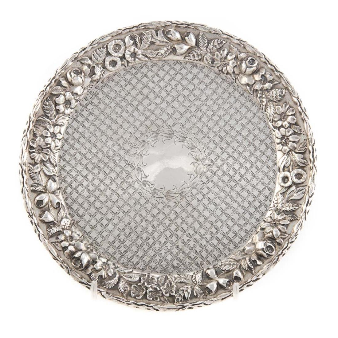"""Kirk """"Repousse"""" sterling 7"""" round salver"""