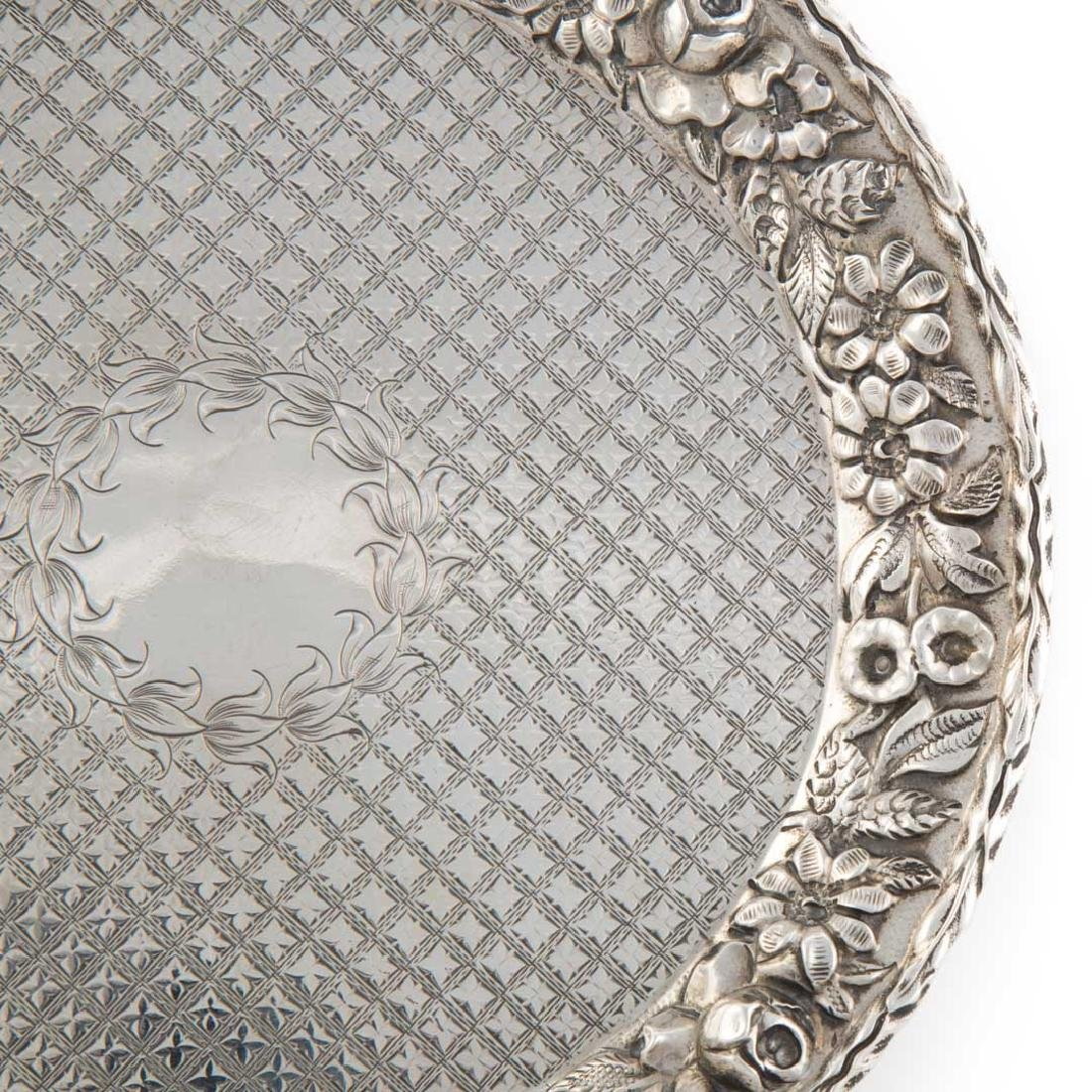 """Kirk """"Repousse"""" sterling 7"""" round salver - 2"""