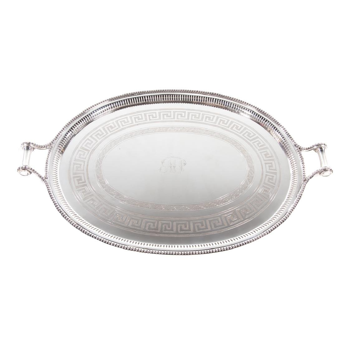 Sheffield plated butler's tray James Dixon & Sons