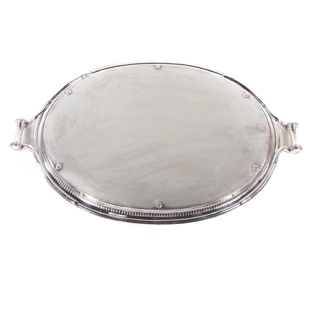Sheffield plated butler's tray James Dixon & Sons - 6