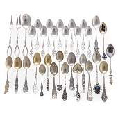 Assorted sterling souvenir  demitasse spoons