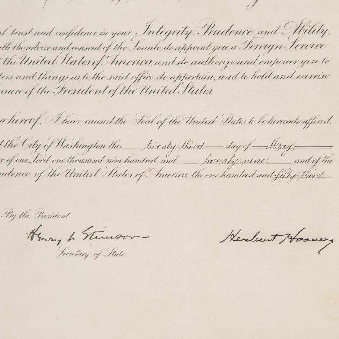 Hoover/Stimson signed document - 3