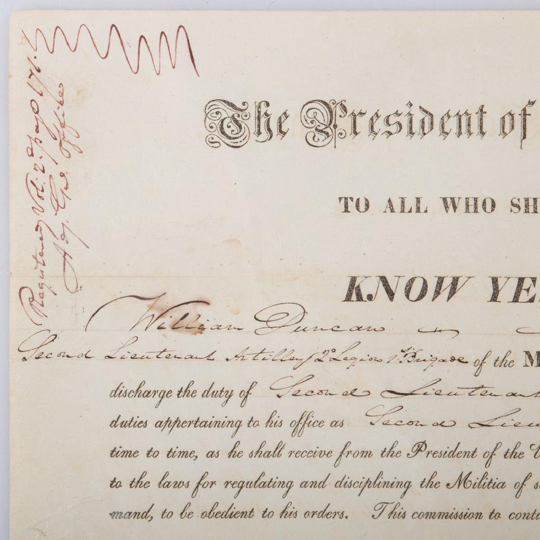 James Monroe signed military appointment - 3