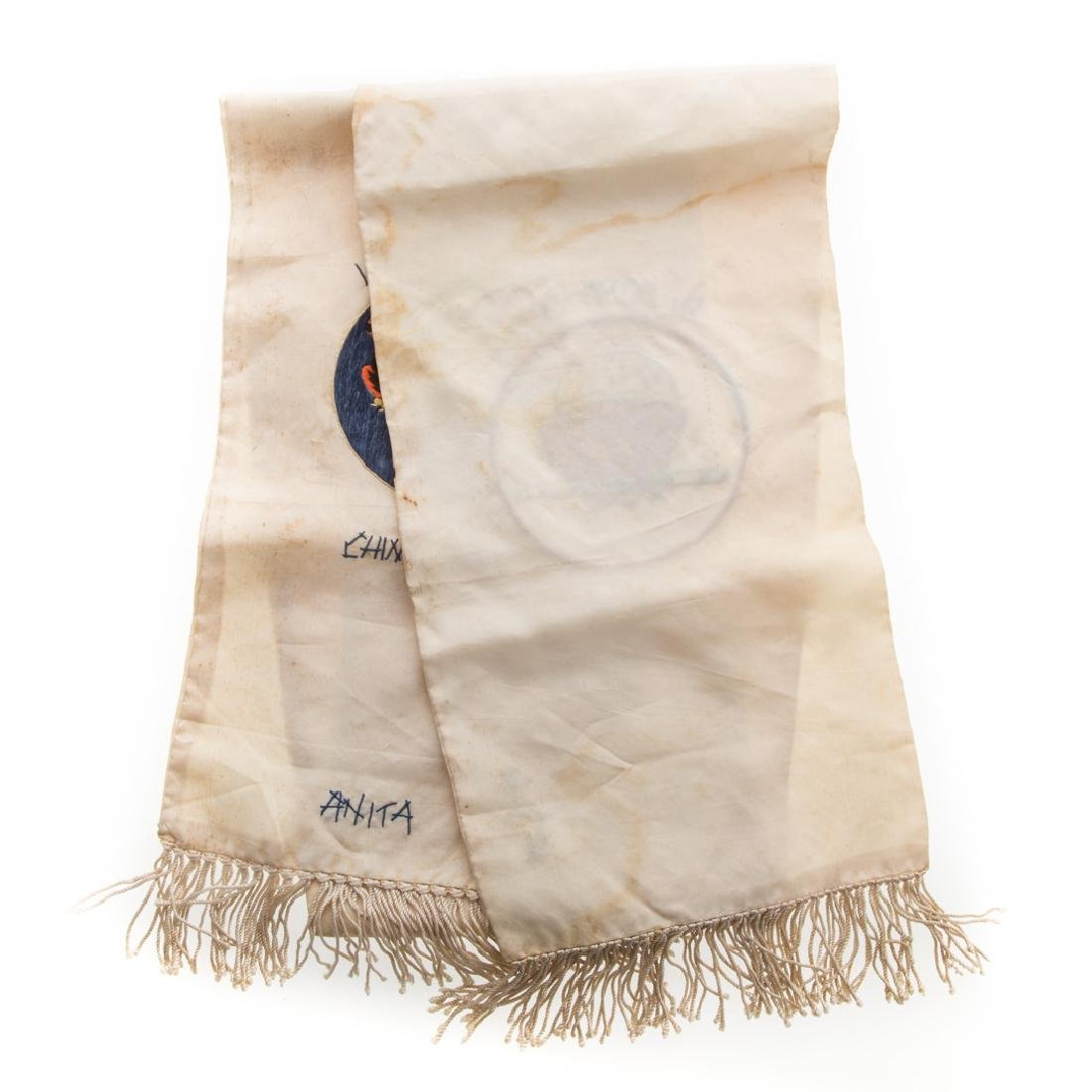 Flying Tigers embroidered silk scarf - 6