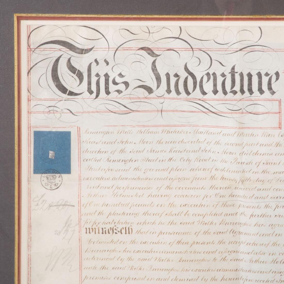 Indenture document - 2