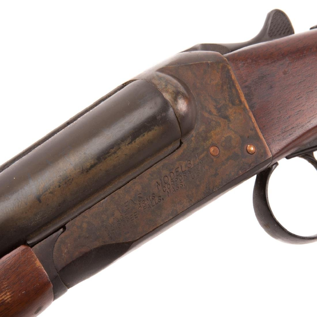 Stevens double barrel shotgun - 6