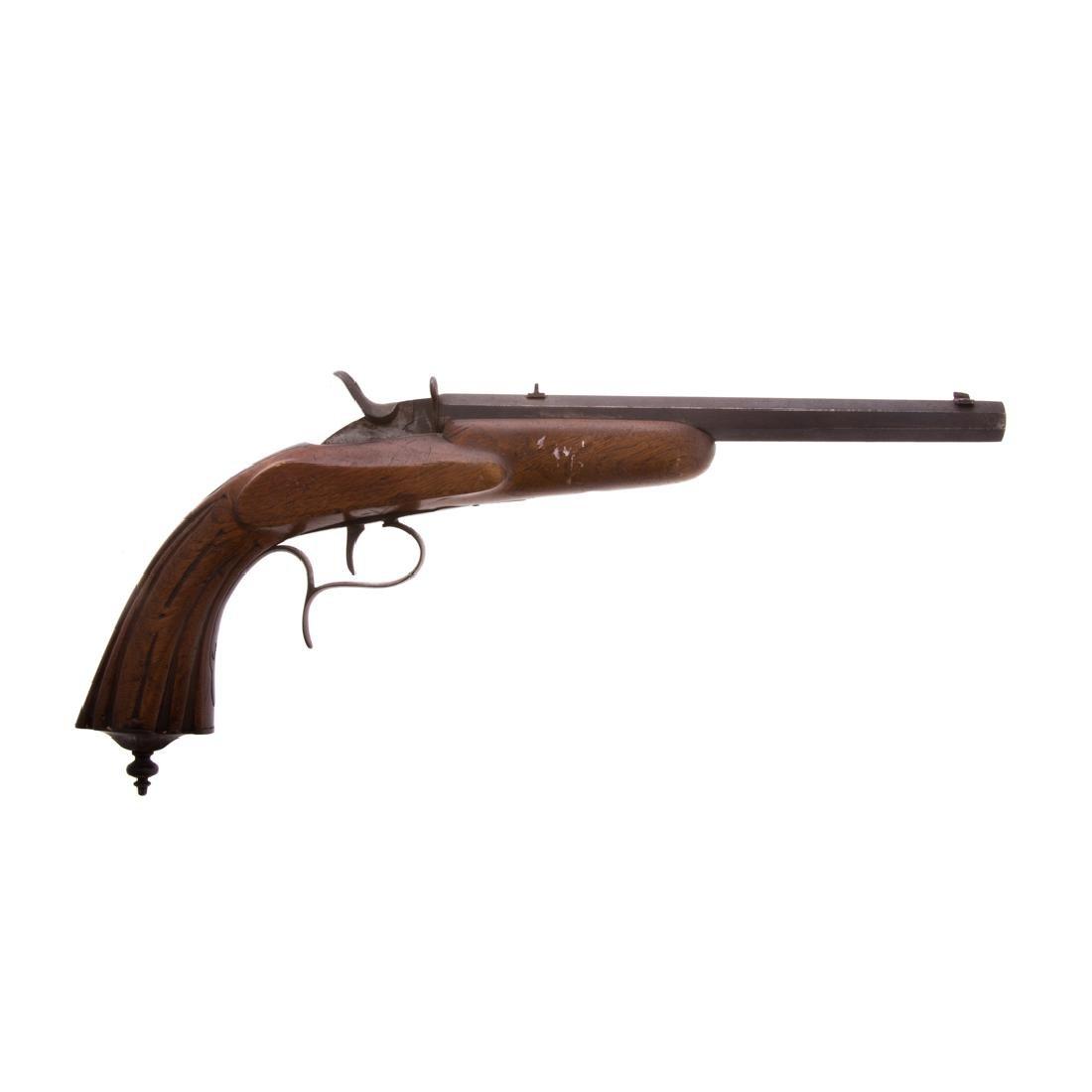 Single barrel percussion pistol