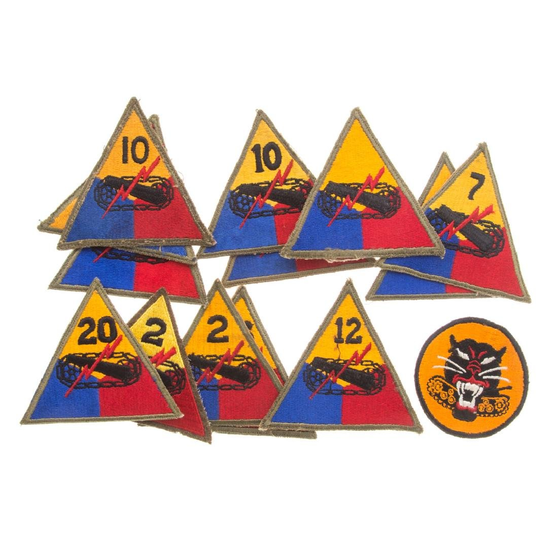 13 US Armored Div. & 1 Tank Destroyer patches