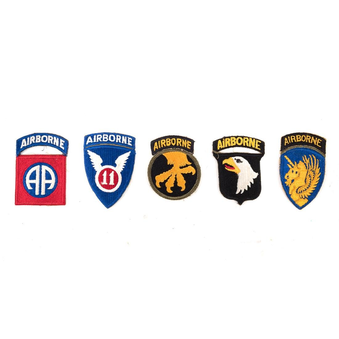 Five US Airborne Div. patches