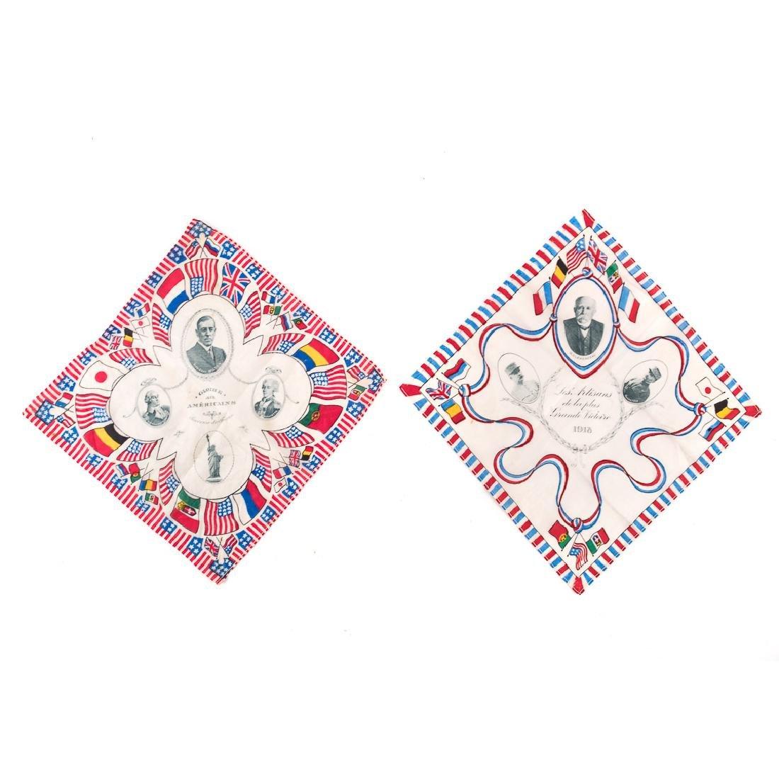 Three commemorative handkerchiefs - 3