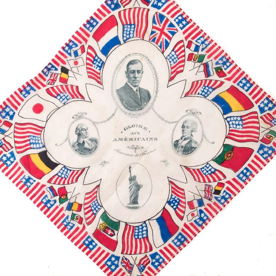 Three commemorative handkerchiefs - 4