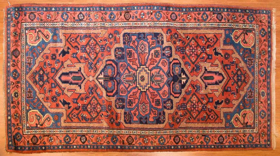 Antique Hamadan rug, approx. 3.7 x 6.4