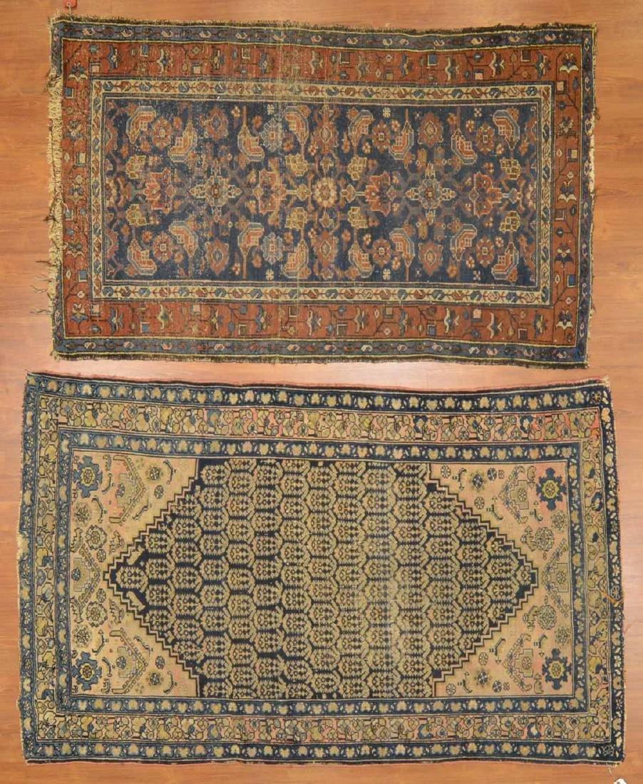 Two antique Hamadan rugs, Persia, circa 1920