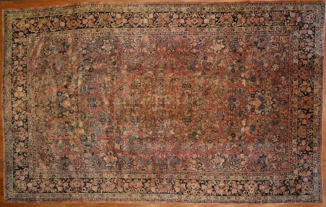Antique Sarouk carpet, approx. 10.1 x 16.8