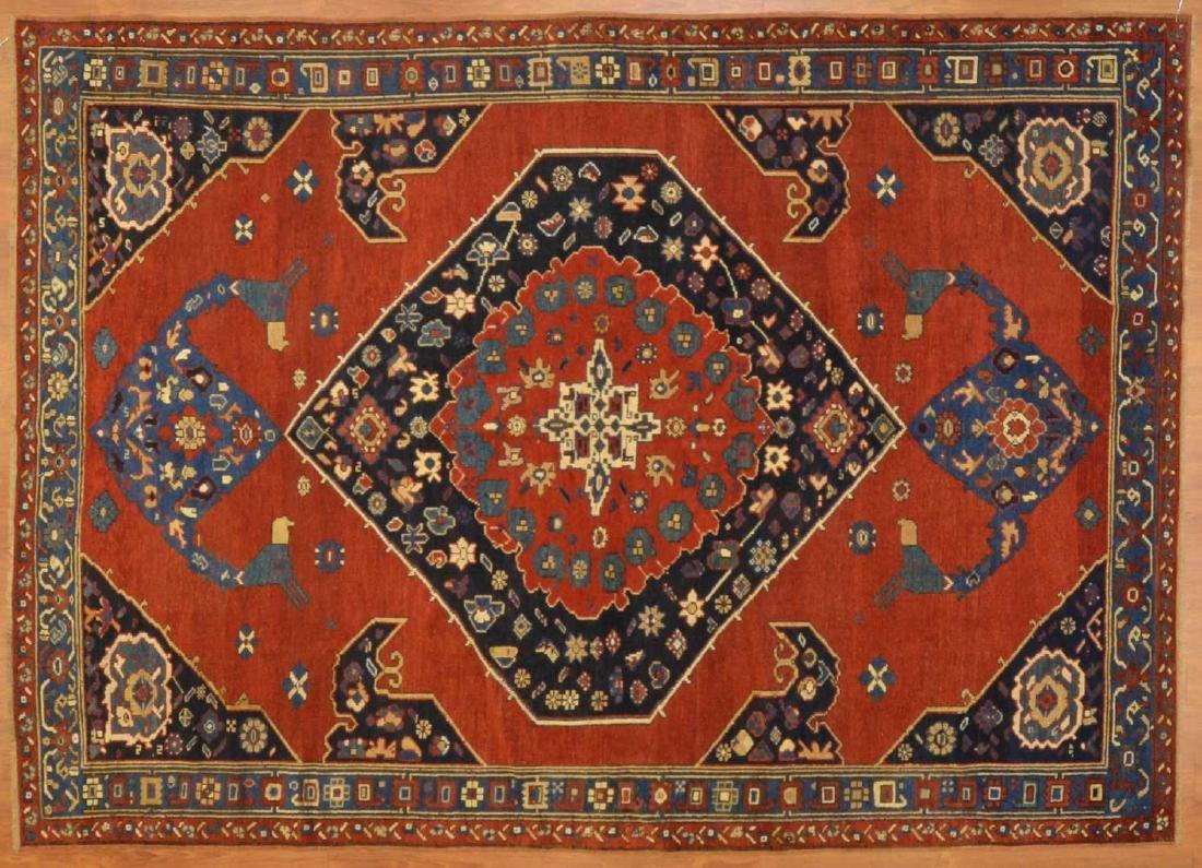 Rare antique Kazak rug, approx. 5.8 x 7.9