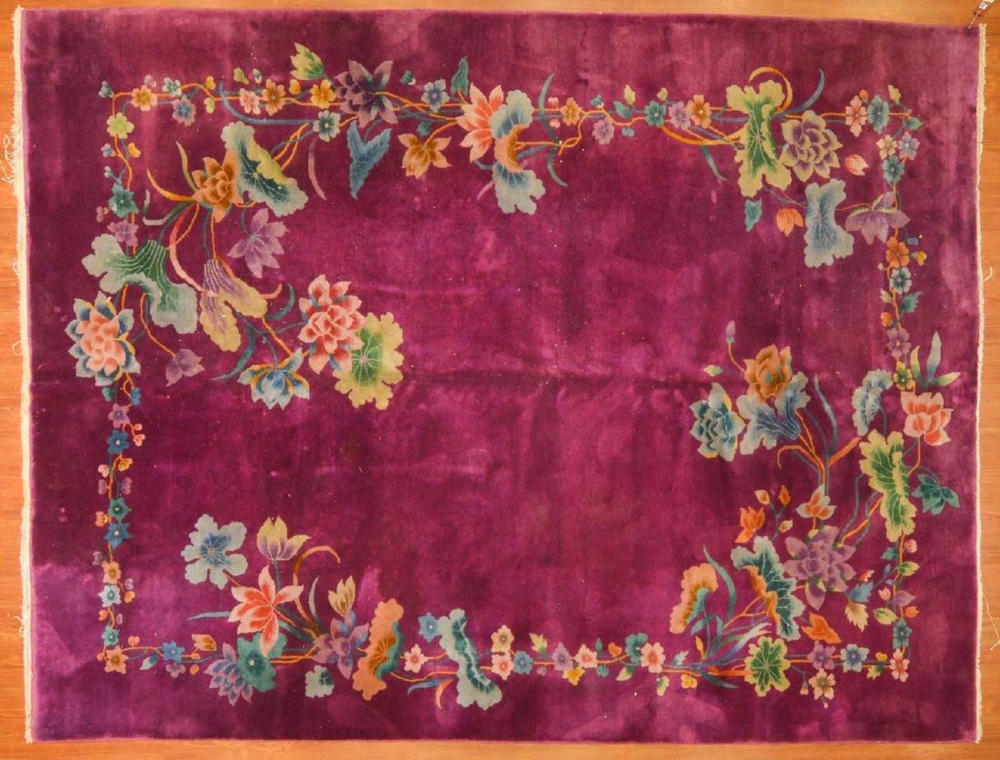 Antique Nichols carpet, approx. 8.9 x 11.3