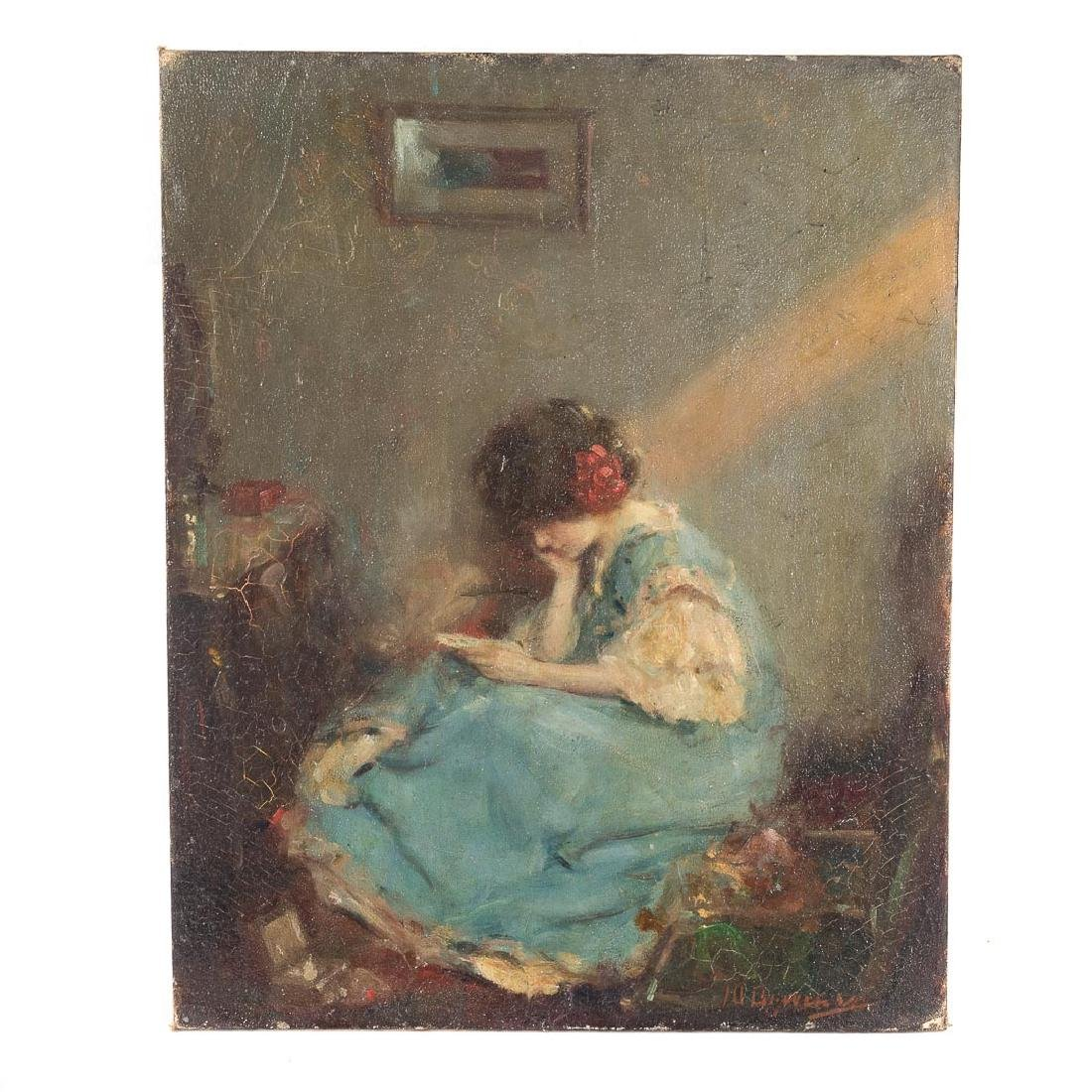 Murray Pervical Bewley. The Love Letter, oil - 2