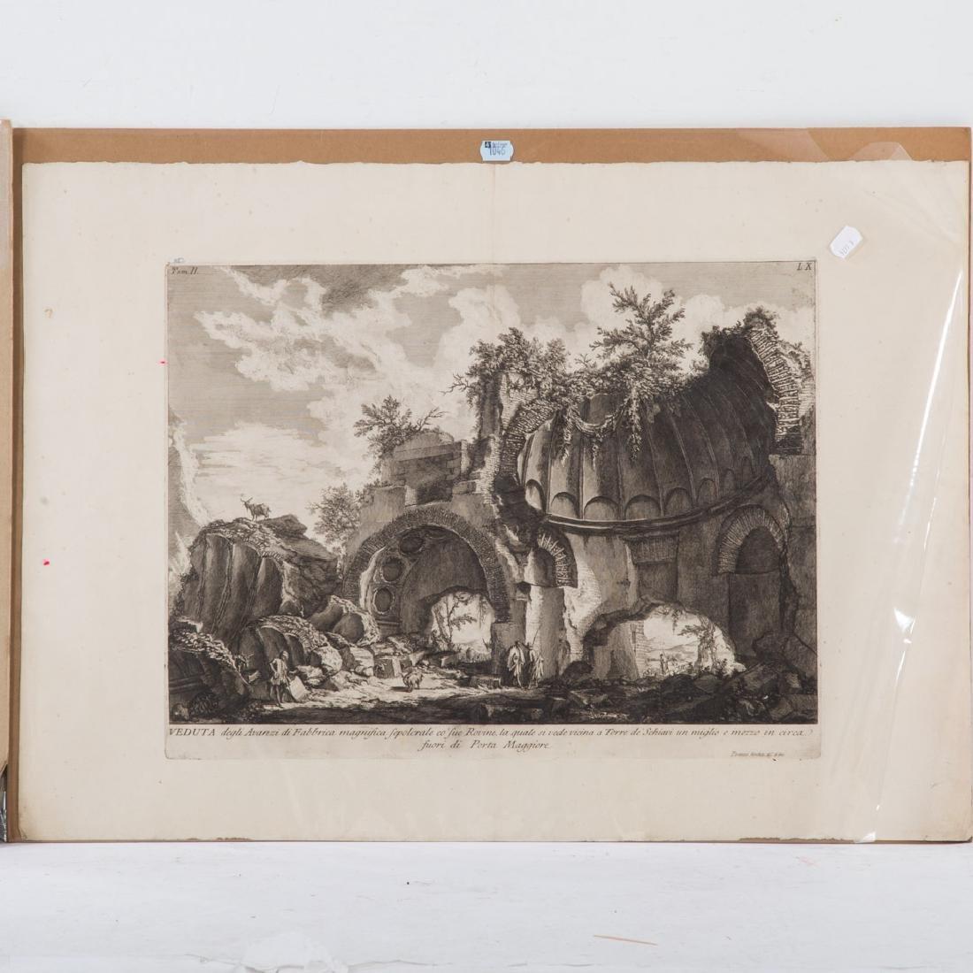 Giovanni Battista Piranesi. 2 unframed engravings - 2