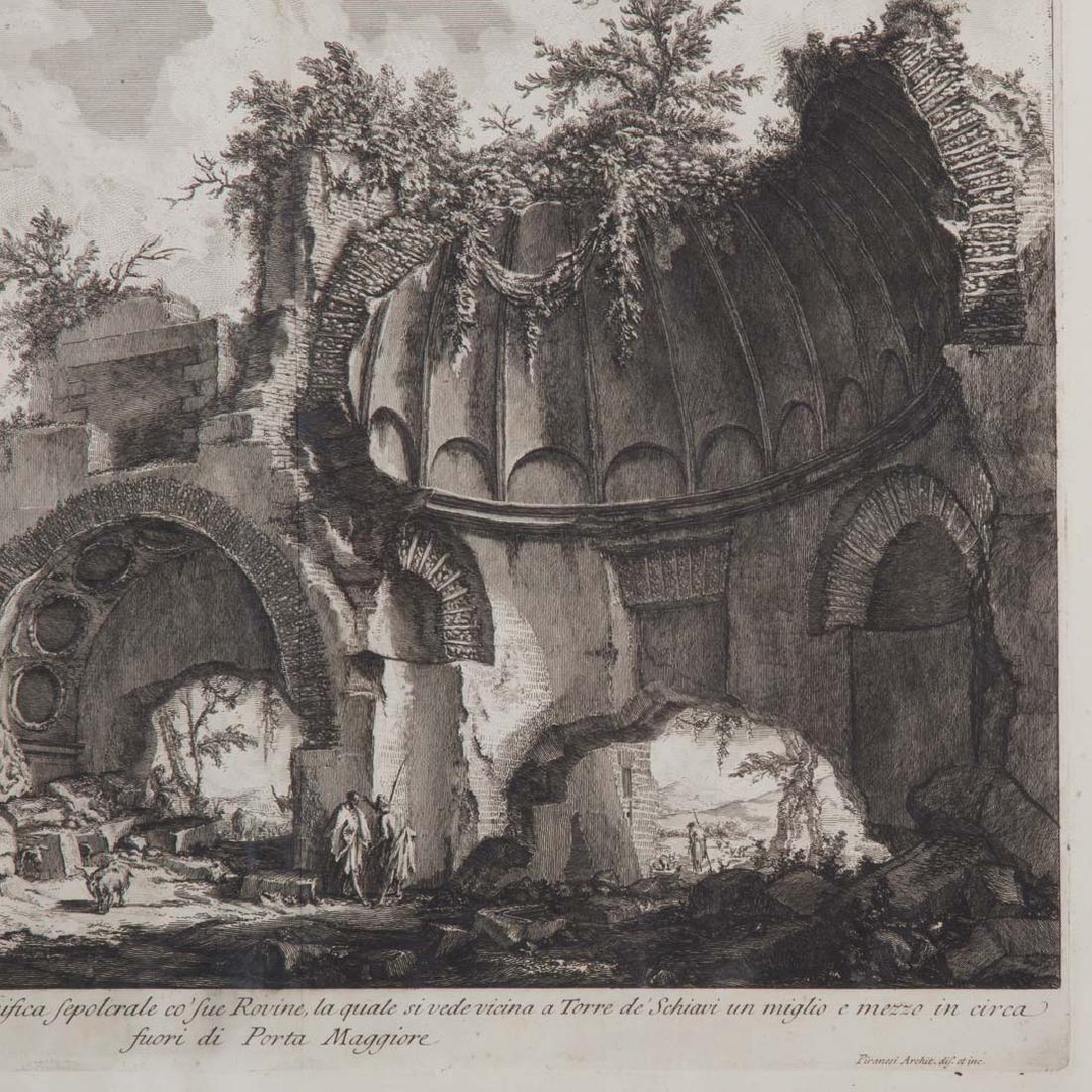 Giovanni Battista Piranesi. 2 unframed engravings - 3