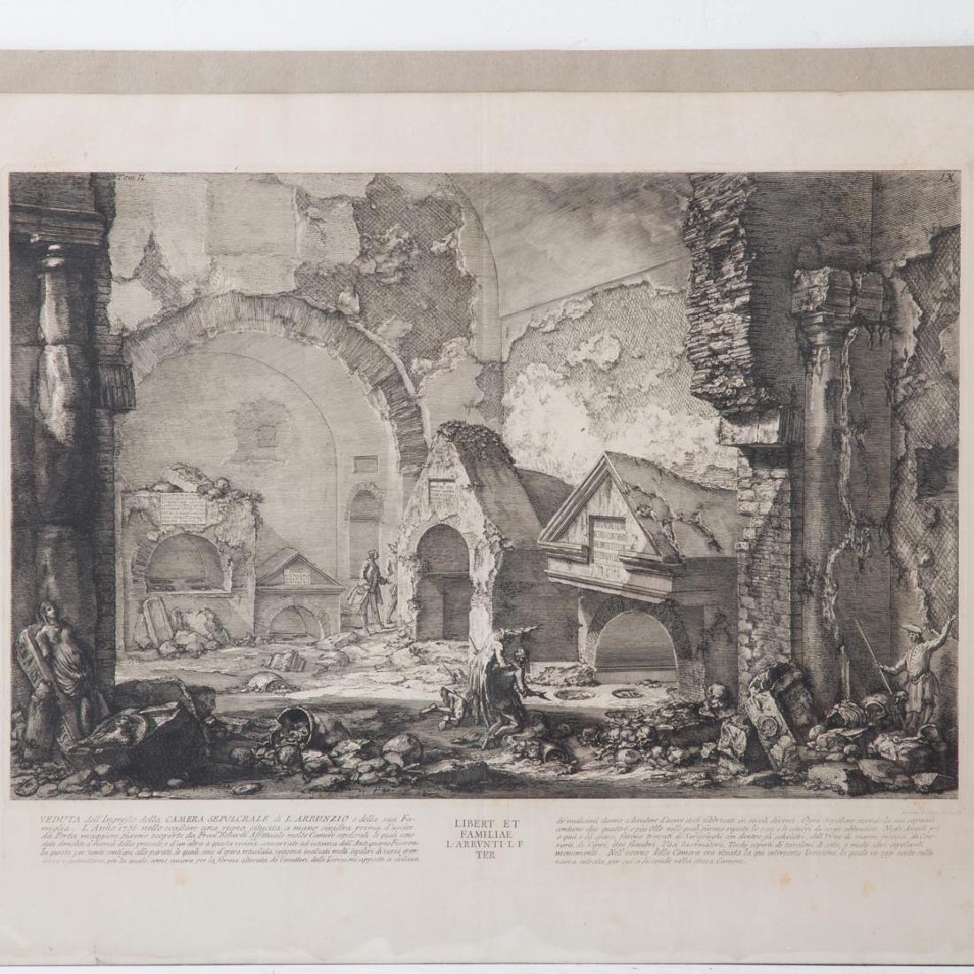 Giovanni Battista Piranesi. 2 unframed engravings - 4