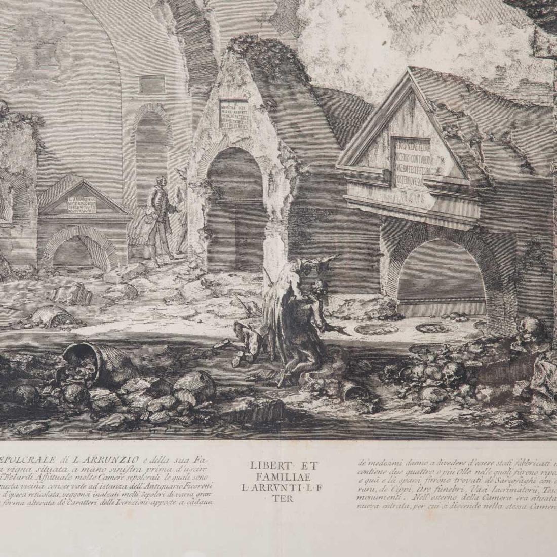 Giovanni Battista Piranesi. 2 unframed engravings - 5
