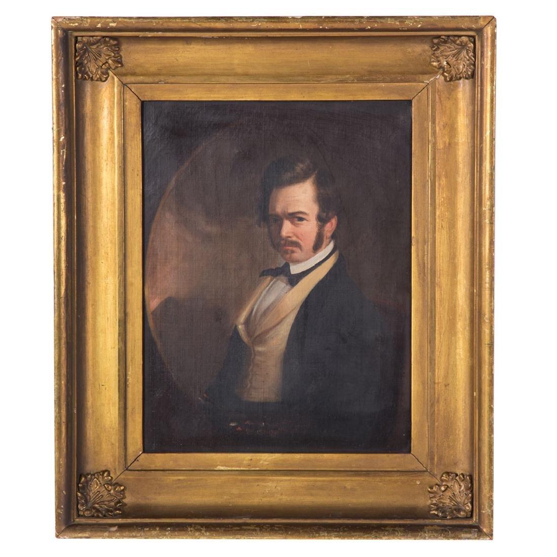 Attr. to William Hepburn. Self Portrait, oil